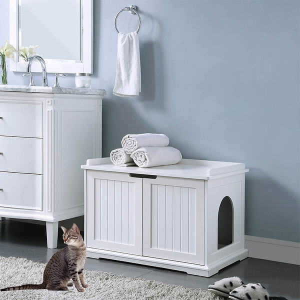 Unipaws Cat Washroom Bench, Easy Assembly Litter Box Cover. Opens flyout.