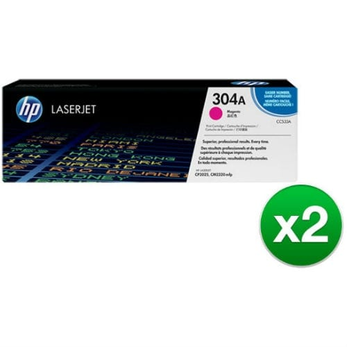 HP 304A Magenta Contract LaserJet Toner Cartridge (CC533A)(2-Pack)