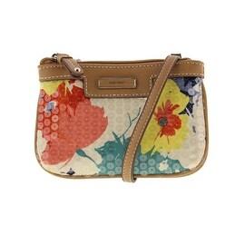 Nine West Womens Sequined Floral Print Crossbody Handbag - SMALL