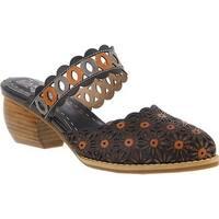 L'Artiste by Spring Step Women's Rashida Closed Toe Sandal Black Multi Leather