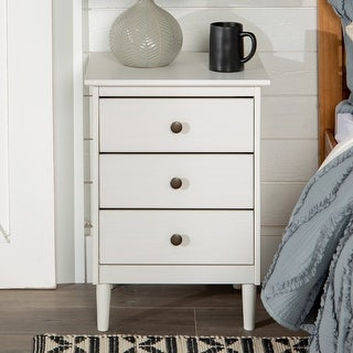 Link to Taylor & Olive Bullrushes 3-drawer Solid Wood Nightstand Similar Items in Bedroom Furniture
