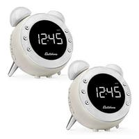 Electrohome Retro Alarm Clock Radio with Motion Activated Night Light and Snooze - 2 PACK