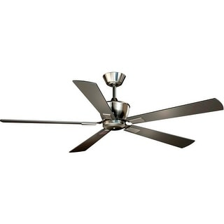 """Vaxcel Lighting F0016 Geneva 52"""" 5 Blade DC Motor Indoor Ceiling Fan - Remote Control and Fan Blades Included - Satin Nickel"""