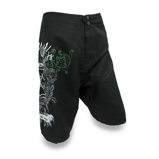 Mens Tribal Floral Board Shorts Red Nose Fashion