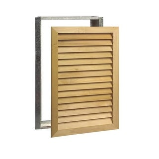 Worth Home Products AGF2030 Stainable New Zealand Pine grille & metal filter frame