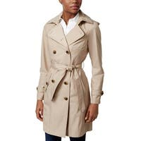 Jones New York Double Breasted Belted Raincoat Beach Tan