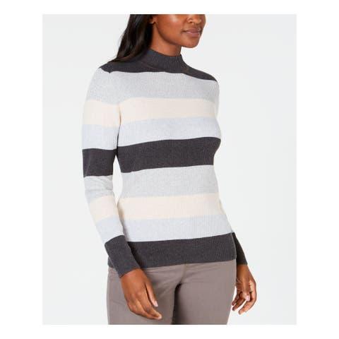 KAREN SCOTT Gray Long Sleeve Sweater XL