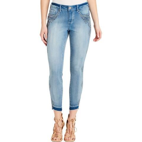 Jessica Simpson Womens Kiss Me Skinny Jeans Denim Mid-Rise