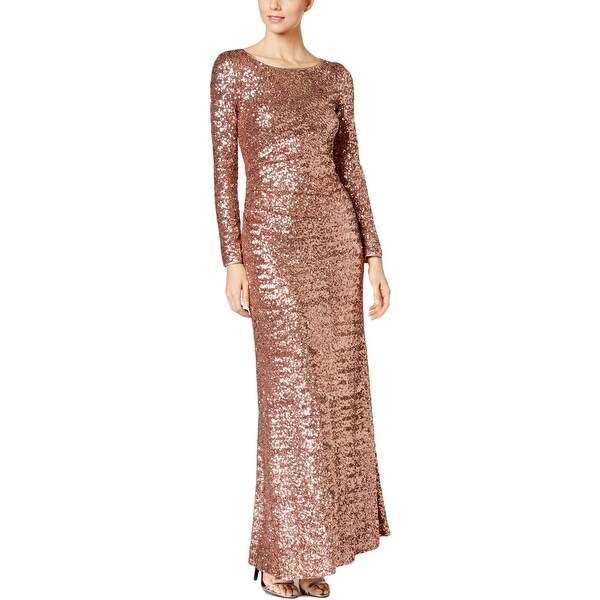 Vince Camuto Womens Formal Dress Sequined Long Sleeves