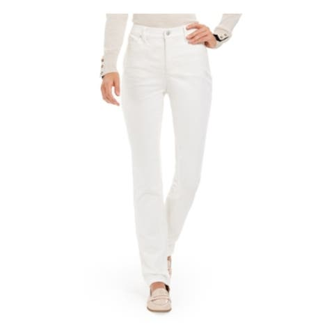 CHARTER CLUB Womens White Corduroy Solid Pants Size 18