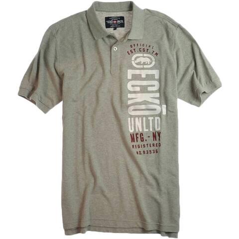 Ecko Unltd. Mens Newly Added Rugby Polo Shirt, Grey, Small