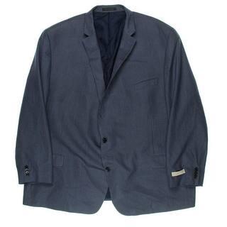 MICHAEL Michael Kors Mens Big & Tall Two-Button Blazer Pattern Notch Collar - 60L|https://ak1.ostkcdn.com/images/products/is/images/direct/eed200cadb1f56c3d53831f3c92e22f5bd62c086/MICHAEL-Michael-Kors-Mens-Big-%26-Tall-Two-Button-Blazer-Pattern-Notch-Collar.jpg?impolicy=medium