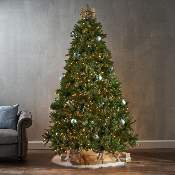 7.5-foot Fraser Fir Hinged Artificial Christmas Tree by Christopher Knight Home. Opens flyout.