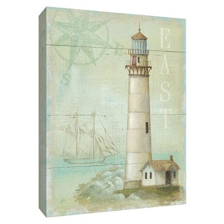 """PTM Images 9-154738  PTM Canvas Collection 10"""" x 8"""" - """"East Coastal Light"""" Giclee Lighthouses Textual Art Print on Canvas"""