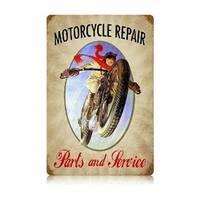 Past Time Signs V570 Motorcycle Repair Motorcycle Vintage Metal Sign