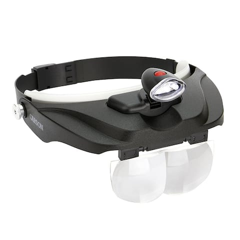 Carson LED Lighted Head Visor Magnifier 1.5x2x2.5x3x