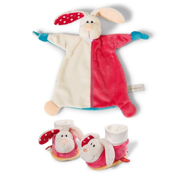 My First Nici Comforter Rabbit Baby Blanket and Rattling Booties Set - 13.0 in. x 4.0 in. x 12.0 in.