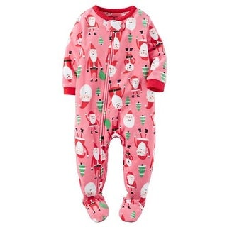 Carters Girls 12-24 Months Santa Fleece Sleepwear