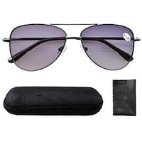 Eyekepper Spring Hinges Polycarbonate Lens Pilot BiFocal Sunglasses Reading Glasses +3.5