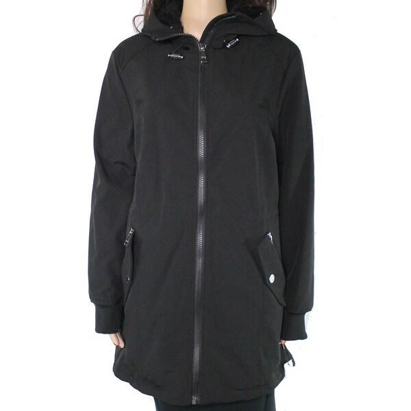 Calvin Klein Women's Jacket Black Size Large L Hooded Fleece Interior. Opens flyout.