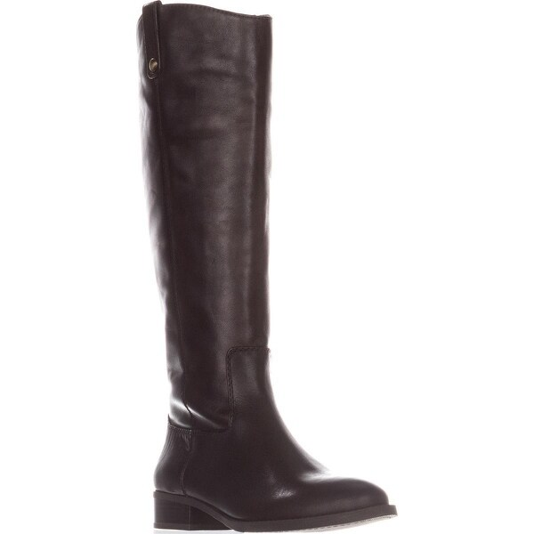 I35 Fawne Flat Riding Boots, Chocolate