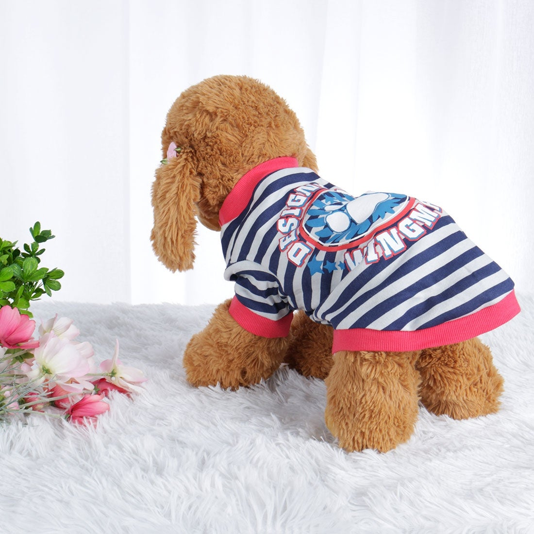 Dog T Shirt Puppy Small Pet Cat Sweatshirt Tops Clothes Apparel Vest Clothing (S)