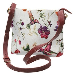Side Saddle Women's Crossbody Bag - Hummingbird Garden Tapestry Print Purse - One size