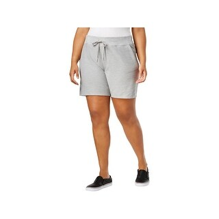 Calvin Klein Performance Womens Plus Shorts Knit Cuffed - pearl grey heather (2 options available)