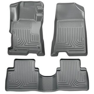 Husky Weatherbeater 2010-2012 Hyundai Santa Fe Grey Front & Rear Floor Mats/Liners