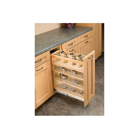 "Rev-A-Shelf 448-08SC-SRI-1 448 Series 8"" Spice Rack Insert for 448 Soft Close - Natural"