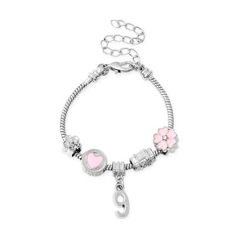 "White Crystal Stylish Charm Bracelet Jewelry Gift For Women Size 6"" - Bracelet 6''"