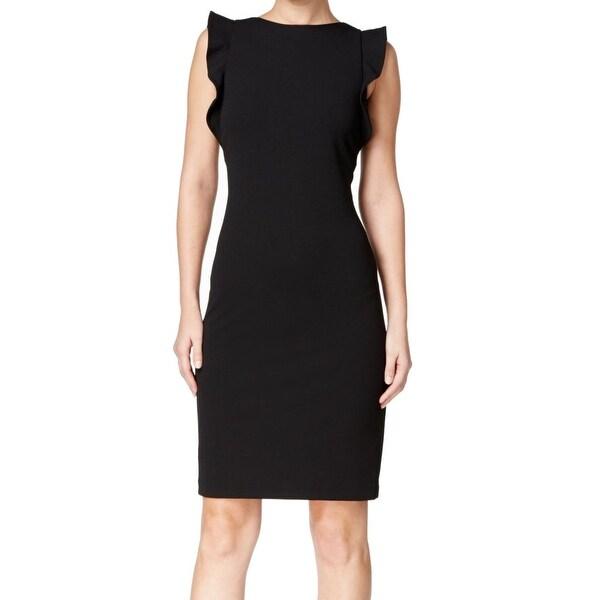 2ad97daa Shop Calvin Klein NEW Black Women's Size 6 Ruffled U-Back Sheath ...