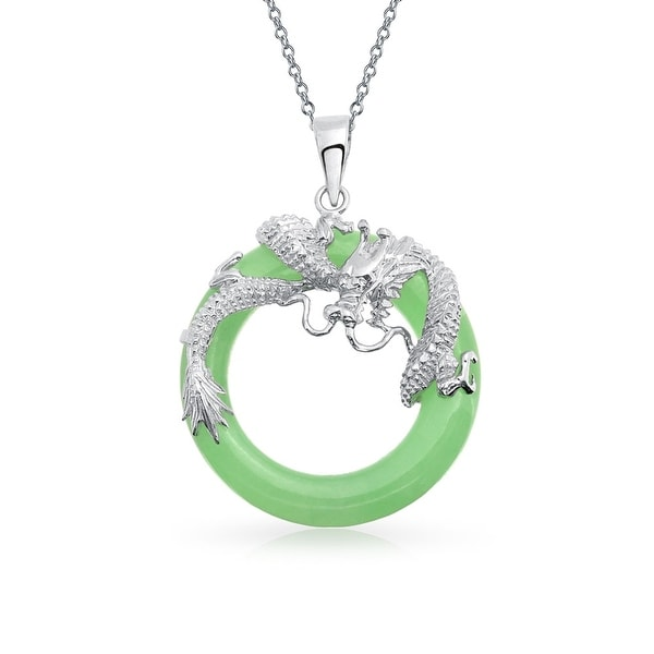 Sterling Silver Dragon Pendant With Woman