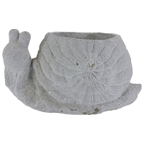 "9"" Gray Snail Shaped Spring Flower Pot Planter"