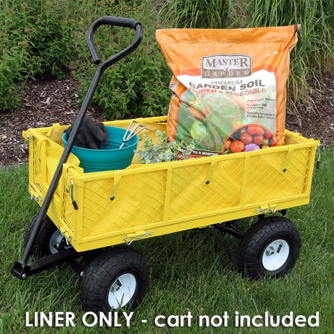 Sunnydaze Outdoor Garden Utility Cart Liner - Yellow - Includes Liner Only