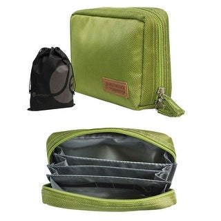 Built in Divider Storage Pouch for Travel, Storage, or Home Organizing with Bonus Reuseable Drawstring Bag