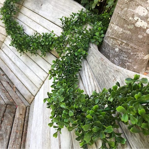 9 ft Artificial Boxwood Garland for Wedding