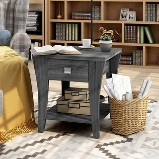 Link to Furniture of America Werc Contemporary Grey End Table Similar Items in Living Room Furniture