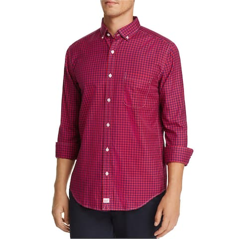 Vineyard Vines Mens Classic Fit Button Up Shirt, Pink, Small