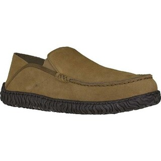 L.B. Evans Men's Moseley Closed Back Slipper Hashbrown Genuine Suede