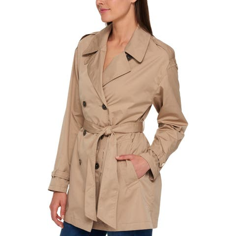 Tommy Hilfiger Womens Trench Coat Spring Mid-Length - L