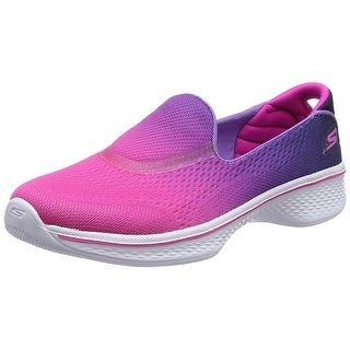Skechers Girls' GOwalk 4 Sporty Starz Slip-On,Hot Pink/Purple (Option: 10.5)