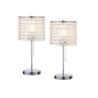Link to Q-Max Modern Sparkling Acrylic Crystal Beads Table Light With USB Ports (Set Of 2) Similar Items in Billiards & Pool