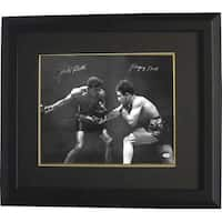 Jake Lamotta signed Vintage BW Boxing 16x20 Photo Custom Framed Raging Bull signed on left  insc on