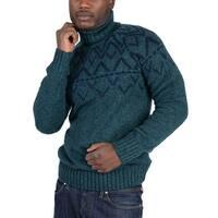 Adidas Mens Green Nordic Sweater Green - Green/Blue