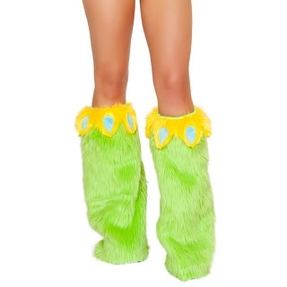 Parakeet Legwarmers, Green Leg Warmers - One Size Fits most