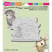 "Confetti Fun - Stampendous House Mouse Cling Stamp 3.5""X4"""