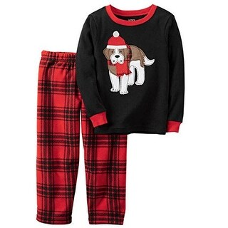 Carter's Big Boys' 2 Piece Thermal and Fleece Pajama Set, 10 Kids