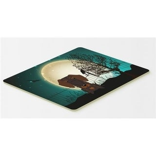 Carolines Treasures BB2319CMT Halloween Scary Wire Haired Dachshund Chocolate Kitchen or Bath Mat 20 x 30