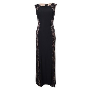 Xscape Women's Sequined Lace Panel Dress